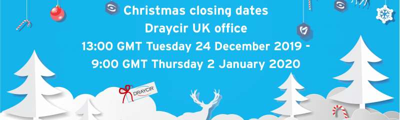 Christmas and New Year open hours and closing dates